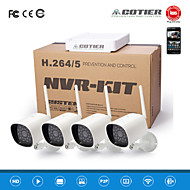 Cotier® 4CH NVR Kit HD/Mini/ONVIF/1MP/1.3MP/wifi IP Camera N4B3e-Mini/L