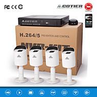 """kits de NVR cotier® poe 4ch 720p 1/3 """"capteur CMOS / extérieur / waterfroof / balle caméra ip n4b3 / kit-poe"""