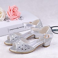 Girls' Shoes Dress/Casual Heels/D'Orsay & Two-Piece/Open Toe Leatherette Sandals Pink/Silver/Gold