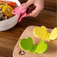 gadget de cuisine papillon silicone isolation clip / anti-pince chaude / silicone mitaine de four (couleur aléatoire)