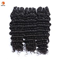 "3Pcs Lot 10""-26""Unprocessed Burmese Virgin Hair Loose Wave Natural Black Human Hair Weaves"