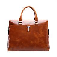 Formal / Casual / Oficina y Trabajo - Bolso de Hombro / Tote / Portafolios / Bolsa de Portátil / Cross Body Bag - Piel de Vaca - Marrón -