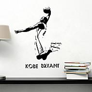adesivos de parede do estilo decalques de parede em parede de celebridades esportes kobe pvc adesivos