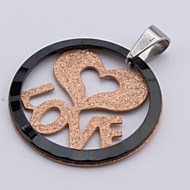 Girl's Attractive Fashion Acrylic Pendant For Love (without Chain)