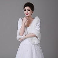 Wedding  Wraps Shawls Faux Fur Ivory