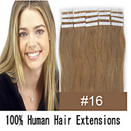 Remy Tape Hair/ PU Skin Weft 20Pcs Tape In Hair Extensions