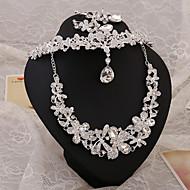 2015Beautiful bride diamond wedding accessories wedding necklace earrings three-piece Hair AccessoriesBY-SET0002
