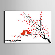 e-home® personlig fingeravtrykk maleri lerret utskrifter -birds på grenen (inkluderer 12 blekkfarger)