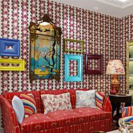 New Rainbow™ Wallpaper Cartoon Pentagram Pattern Art Deco Wall Covering , Art Deco Non-woven Paper