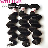 """4pcs beaucoup 8 """"-30"""" péruvien cheveux vierges desserrent la vague naturelle de cheveux humains noire faisceaux non transformés"""