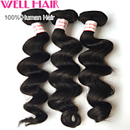 "4Pcs Lot 8""-30"" Peruvian Virgin Hair Loose Wave Natural Black Human Hair Unprocessed Bundles Shed & Tangle Free"