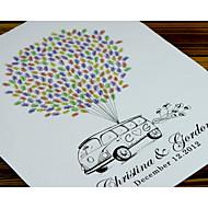 finger print baloon og bil Edding singnature treet, bryllup gjestebok alternativ