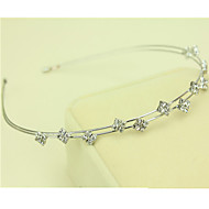 Corée a importé en épingle à cheveux strass tête perlée décorations cerceau sud double rangée bande de cheveux de diamant