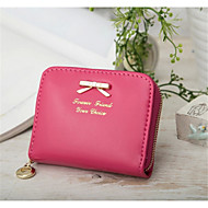Women 's PU Casual Coin Purse - White/Pink/Purple/Blue/Green/Yellow/Black