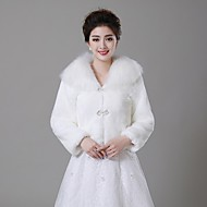 Wedding  Wraps Coats/Jackets Faux Fur Ivory