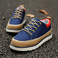 Men's Spring / Summer / Fall Round Toe Canvas Casual Blue / Green / Beige