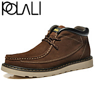 Men's Shoes Outdoor / Athletic / Casual Suede Boots Blue / Brown / Yellow / Green