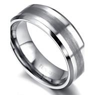 Mens tungsten Ring, Silver, Shiny KR2038