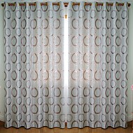 Two Panels European Contracted And Fashionable Jacquard Window Shade Curtains Drapes