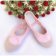High Quality Canvas Pikskin Upper Dance Shoes Ballet Slipper for Adult and Kids More Colors