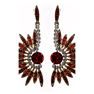 Women's Hoop Beautiful Alloy/Silver Plated With Rhinestone Earrings