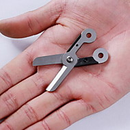 Fashion Stainless Steel/Rubber Scissors With Key Ring Multitools Camping/Outdoor