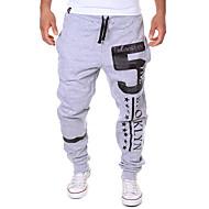 Herren Sweatpants-Druck Freizeit Baumwollmischung Schwarz / Weiß / Grau