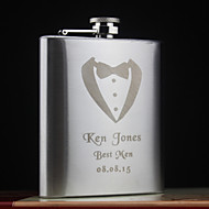Personalized Stainless Steel 7-oz Flasks
