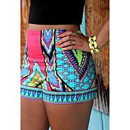 Vardag / Tryck Shorts Byxor Kvinnors Microelastisk Polyester