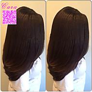 6a yaki italiano cabello humano peruano pelucas peruano yaki virginal recta pelucas delanteras del cordón para las mujeres negras