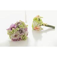 """Bouquets de Noiva Atado à Mão / Forma-Livre Rosas Buquês Casamento / Festa / noite Cetim / Cetim Elástico 5.12""""(Aprox.13cm)"""