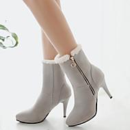 נעלי נשים - מגפיים - פליז - שפיץ / מגפי אופנה - שחור / חום / אפור / בז' - שמלה / קז'ואל - עקב סטילטו