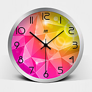 Creative Stereo Vision Super Mute Metallic Wall Clock