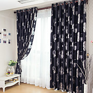 Two Panels European Fashion Silver Pressed Jacquard Blackout Curtains Drapes