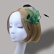 Women's Feather/Net Headpiece - Wedding/Special Occasion Simple Fascinators 1 Piece