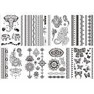 Brand New - Tatuajes Adhesivos - Non Toxic/Modelo/Tribal/Parte Lumbar/Waterproof - Series de Joya/Series de Flor -