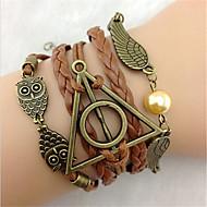 Lederen armbanden Uniek ontwerp Modieus leuke Style Sieraden Bruin Sieraden Voor Feest 1 stuks