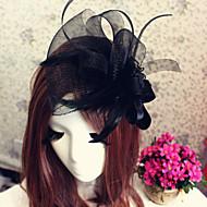 Dame Tyll Headpiece Bryllup / Spesiell Leilighet / Utendørs Pannebånd / fascinators / Blomster / HatterBryllup / Spesiell Leilighet /