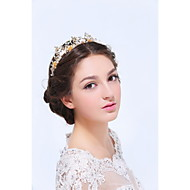 Women's Gold / Alloy Headpiece-Wedding / Special Occasion / Casual Tiaras 1 Piece Clear / Ivory Round