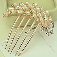 Coréia do Sul ornamentos de alta qualidade em pentes de cabelo fecho de diamantes pérola torção do Phoenix