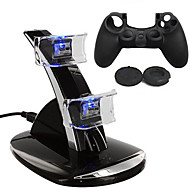 # - # - PS4 - Recarregável - de Plástico - USB - para PS4