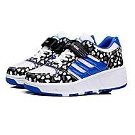 לבנים / לבנות-נעלי ספורט-דמוי עור / טול-נוחות / חדשני-כחול / ורוד-קז'ואל-עקב שטוח