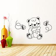 애니멀 벽 스티커 플레인 월스티커 , PVC 70cmx50cm