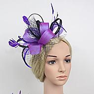 Women's Satin/Feather/Net British Style Headpiece - Wedding/Party Fascinators 1 Piece