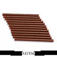neitsi® set 12 profesionalnih ekstenzija keratin pištolj veza ljepila u sticku (smeđa)