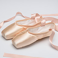 Customize performance Dance Shoes satin upper High Box Ballet Pointe Shoes/Head layer cowhide
