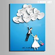 E-HOME® Personalized Signature Canvas invisible Frame Print-A New Person With a Balloon Flying