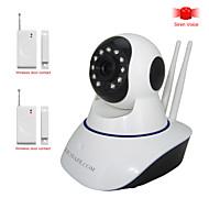 hosafe ™ 1mw9 1,0 megapixel alarme hd câmera IP sem fio com o contacto de porta sem fio