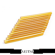 Neitsi® Set of 12 Professional Hair Extensions Keratin Gun Bond Glue Sticks (Yellow)