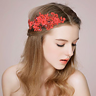 Women's Fashion Imitation Pearl Floral Lace Headpiece - Wedding Flowers 1 Piece